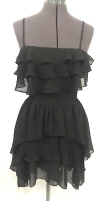 - Romeo & Juliet Couture Women's Dress Sz S Hi Low Ruffle Convertible Little Black