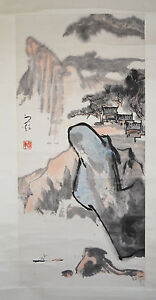 Chinese-Scroll-Ink-On-Paper-Painting-39