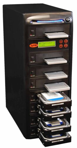 "SySTOR 1:7 SATA 2.5""&3.5"" Dual Port Hard Drive HDD/SSD Duplicator/Eraser 300MB/s"