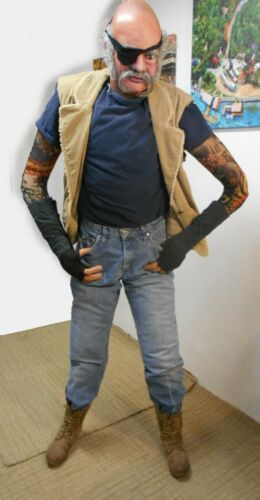 Hawkeye-Life-Size Tattooed Dummy Male Adult Man,Security,Prop,Flexible,MADE-USA