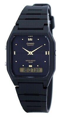 Casio AW48HE-1A Mens Classic Digital Analog Casual Watch Dual Time Black Dial Casio Casual Mens Sport Watch