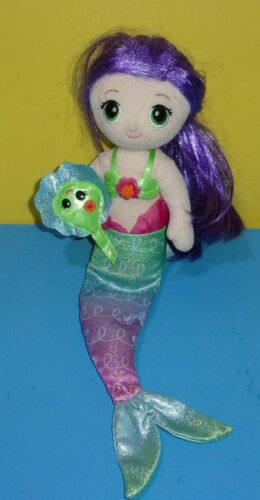 "First & Main 16"" Fantasea Friends Mermaid Doll Shelf Sitter Plush Coraline"