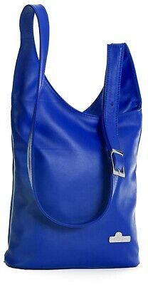 Womens Genuine Soft Italian Leather Long Shoulder Strap Cross Body Hobo Bag