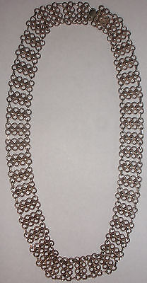 "Nice Vintage Norway  modernist Arne Nordlie 830s silver 17.5"" necklace"