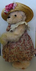 Vintage-Artist-OOAK-Mama-LuBears-Teddy-Bear-034-Zoe-034-18-034-by-Debbie-Lubien