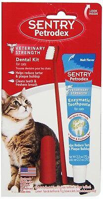 SENTRY Petrodex VS Dental Care Kit Cat Malt Toothpaste