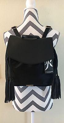 Women's Black Rampage Backpack Drawstring Tassel Shoulder Bag Purse NWT $88.