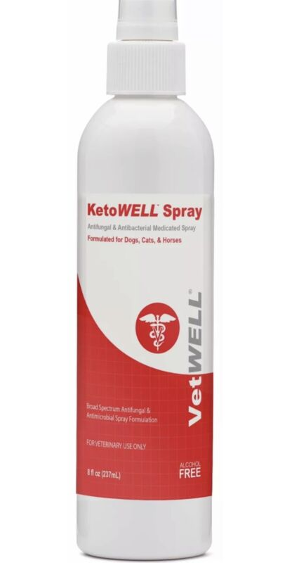 KetoWELL Chlorhexidine & Ketoconazole Antiseptic Medicated Spray for Dogs & Cats