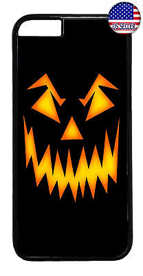 Halloween Scary Pumpkin Face Rubber Case Cover For iPhone Xs Max XR X 8 7 6 Plus - Scary Halloween Pumpkin Patterns
