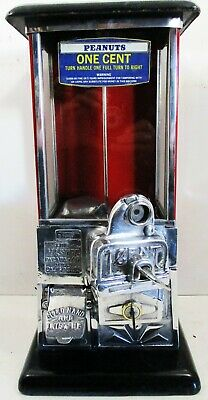 Masters Red Penny Operated Candy/Peanut Machine circa 1930's restored