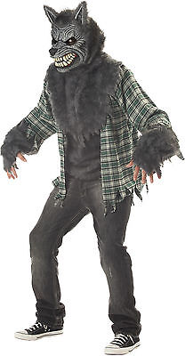 HALLOWEEN ADULT FULL MOON MADNESS WEREWOLF WOLF  COSTUME MASK PROP LARGE - Full Moon Halloween Costume