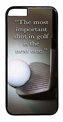 Golf Ball Sport Quote Design Case Apple iPhone Models TPU Rubber or Hard -