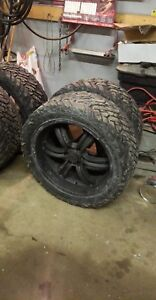 "Chevy/gm 6 bolt 22"" rims and 33"" fuel tires"