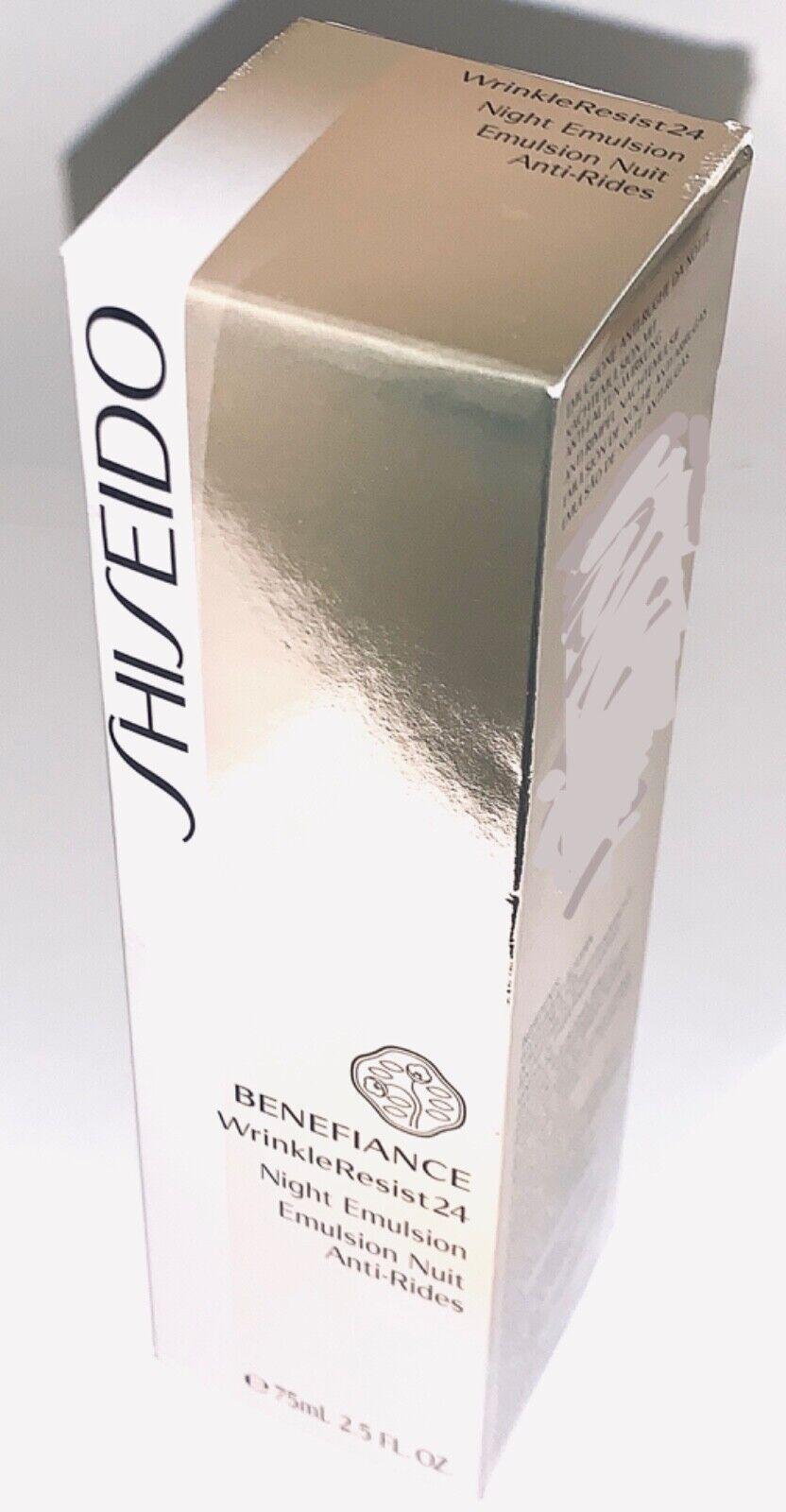 Shiseido Benefiance WrinkleResist24 Night Emulsion 2.5oz•A