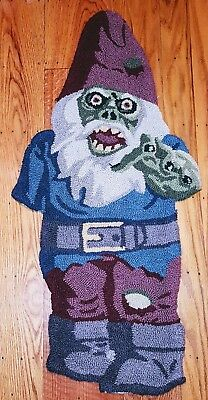 Zombie Garden Gnome Hooked Door Mat Rug Carpet Halloween Welcome Floor Mat  - Halloween Welcome Mat