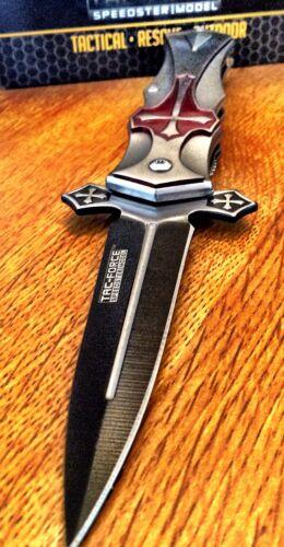 Tac-Force Speedster Celtic Cross Spring Assisted Pocket knif