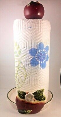 NEW Apple paper towel holder home kitchen decor bar set  Ceramic base