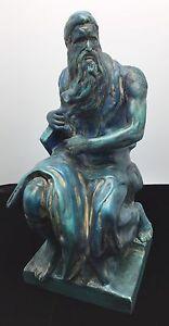 Michelango Moses Statue Sculpture Figurine Biblical Figure Rome Art Renaissance