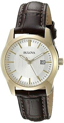 Bulova Women's Quartz Date Calendar Brown Leather Band 30mm Watch 97M114 Date Brown Leather