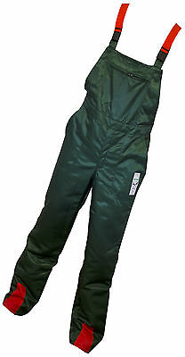 Chainsaw Safety Forestry Bib & Brace Trousers Waist 36