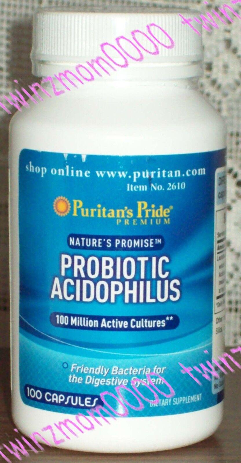 Puritan's Pride Probiotic Acidophilus-100 Capsules