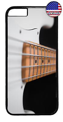 Pearl White Bass Guitar Rubber Case Cover For Iphone 8 7 Plus 6 5 4 X