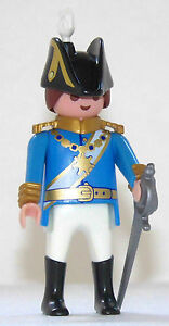 FRANCESE-USSARO-Playmobil-per-Re-Garde-Napoleone-Cavalieri-Soldato-Roccia-blu