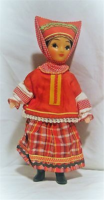VINTAGE RUSSIAN COSSACK COSTUMED GIRL DOLL JOINTED w/PAPER LABEL HAIR BRAID ](Russian Cossack Costume)