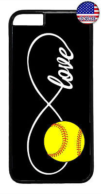 Infinite Forever Love Softball Sports Case iPhone 11 Pro Max Xs XR 8 Plus 7
