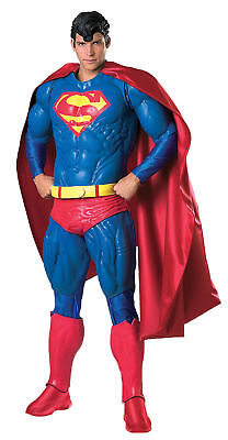 COLLECTOR'S EDITION SUPERMAN ADULT COSTUME Men's Classic Comic Book Super - Collectors Superman Kostüm