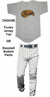 Adult Mens Movie The Warriors Furies Pinstriped Baseball Costume Jersey OR Pants - Warriors Movie Costume