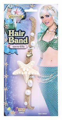 Meerjungfrau Kostüm Zubehör (Damen Meerjungfrau Seestern Haarband Stirnband Kostüm Kleid Outfit Zubehör)