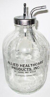 Allied Chemetron 22-93-0001 Gomco 01-90-3105 01-90-3487 Glass Suction Bottle
