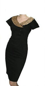Retro-Vintage-Style-Black-Wiggle-Dress-with-Leopard-Collar-Goodwood-VLV