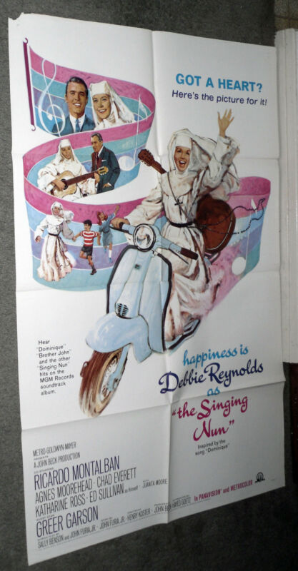 INNOCENTI LAMBRETTA 125 MOTOR SCOOTER original 1966 movie poster THE SINGING NUN