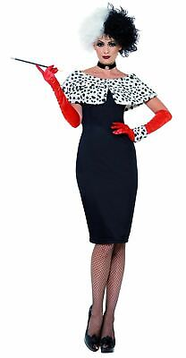 adies Halloween Fancy Dress Costume Party Outfit (Cruella Outfit)