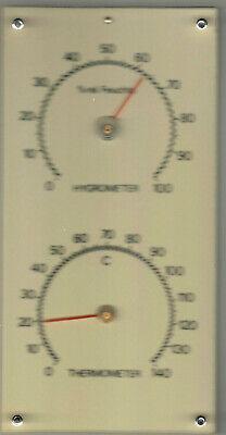 Original 1950s Antique Vintage Hygrometer + Thermometer 9.05 inch, Germany