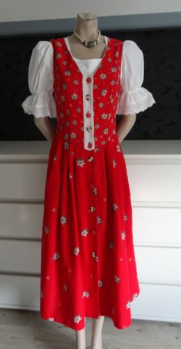 German Austrian  Linen Trachten Edelweiss Dress 6-8