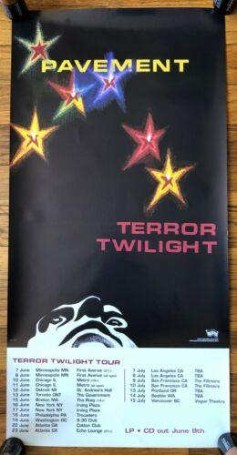 Pavement Terror Twilight RARE original promo poster 1999