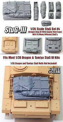 1/35 Scale StuG III Deck Stowage Set #4 (8 Pieces) - Value Gear Resin for sale  Flagstaff