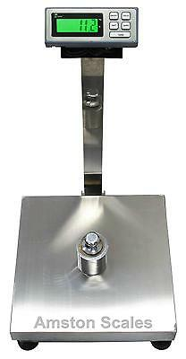 500 Lb X 0.1 Lb 18 X 24 Inch Digital Scale Platform Floor Bench Postal Shipping