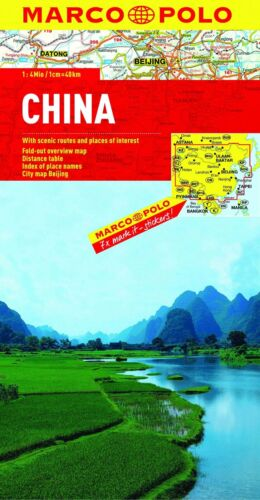 Map of China, by Marco Polo Maps