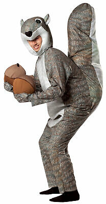 Squirrel Adult Costume Animal Mascot Funny Grey Jumpsuit Halloween Rasta Imposta - Rasta Imposta Squirrel Costume