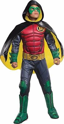 Cities Dc Halloween (Rubies Premium Robin DC Comics Gotham City Childs Boys Halloween Costume)