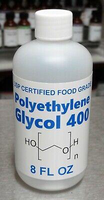 8 Oz Polyethylene Glycol Peg 400 - Usp Food Grade Kosher 99.7 Certified