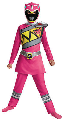 Pink Power Ranger Dino Charge Classic Jumpsuit & - Dino Charge Halloween Kostüm