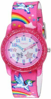 Timex TW7C25500, Kid's Time Machines Pink Elastic Watch, Unicorn, Time Teacher