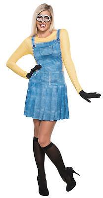 Minion Erwachsene Damen Kostüm Gelb Blau Kleid Brille Rubies Film - Minions Halloween Kostüm