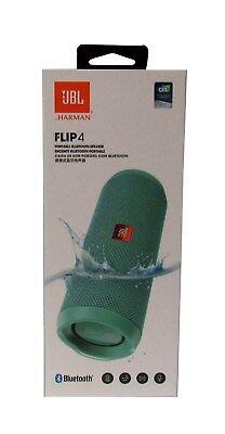 JBL Flip 4 Waterproof Portable Bluetooth Speaker Teal- Sealed NEW *FLIP4TEAL