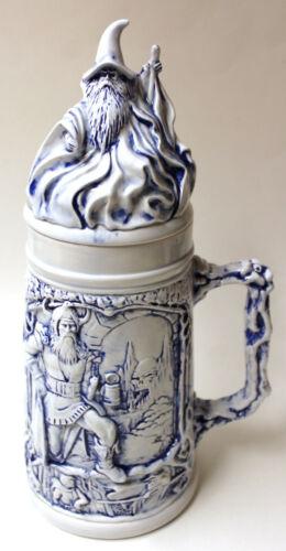 Vintage Ceramic Wizard Top Stein